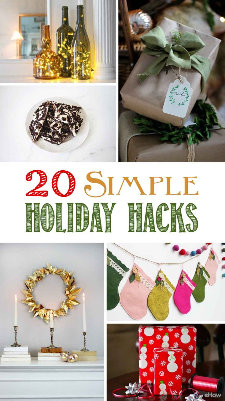 20 simple holiday hacks that'll make your life so much easier! Don't let the holidays stress you out. Between trimming the tree, wrapping the perfect gifts,and decorating your home, we've got hacks that'll make your Christmas merry again: http://www.ehow.com/how_12342994_simple-holiday-hacks-thatll-make-life-easier.html?utm_source=pinterest.com&utm_medium=referral&utm_content=curated&utm_campaign=fanpage