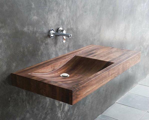 lavello interamente in teak #itesoricoloniali #bagno #bathroom #teak #reggioemilia #arredamenti #homestaging #legno