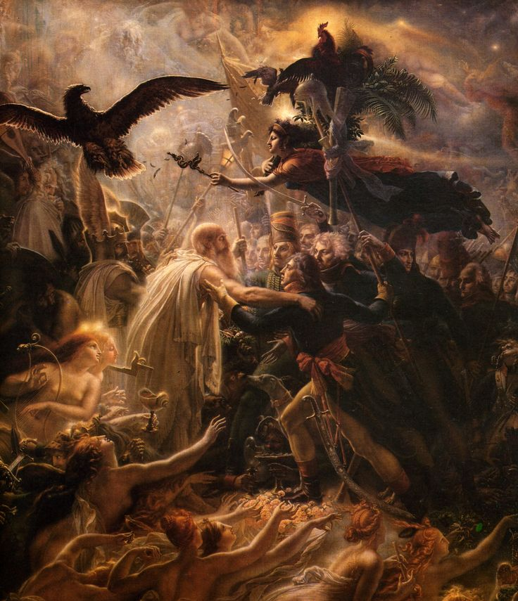 Ossian receiving the ghosts of french heroes - Anne-Louis Girodet de…