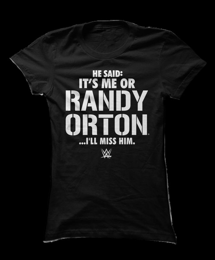 Randy Orton - He Said It's Me Or... I'll Miss Him
