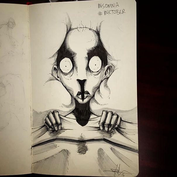 Inktober Insomnia