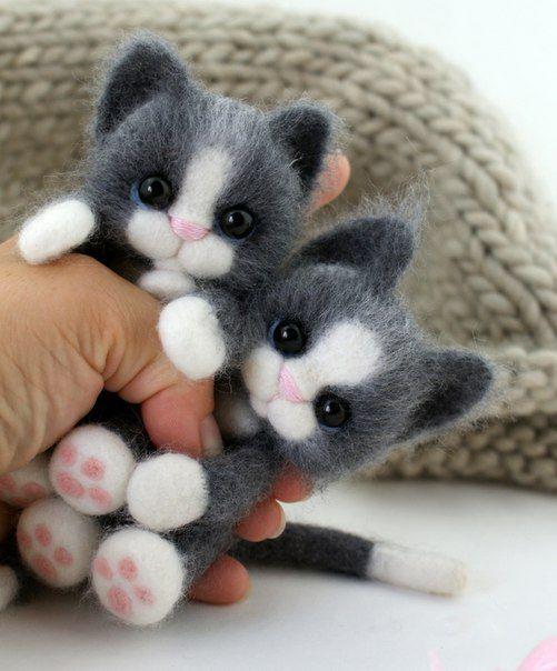 Котята из войлока. Разве не мило? :)