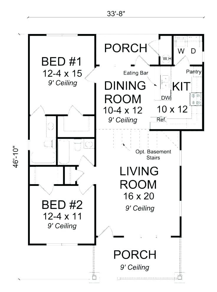 Small House Plans With Open Floor Plan Unique Modern 2 Bedroom Pictures Houses Bedroom House Plans Open Concept House Plans One Bedroom House Plans