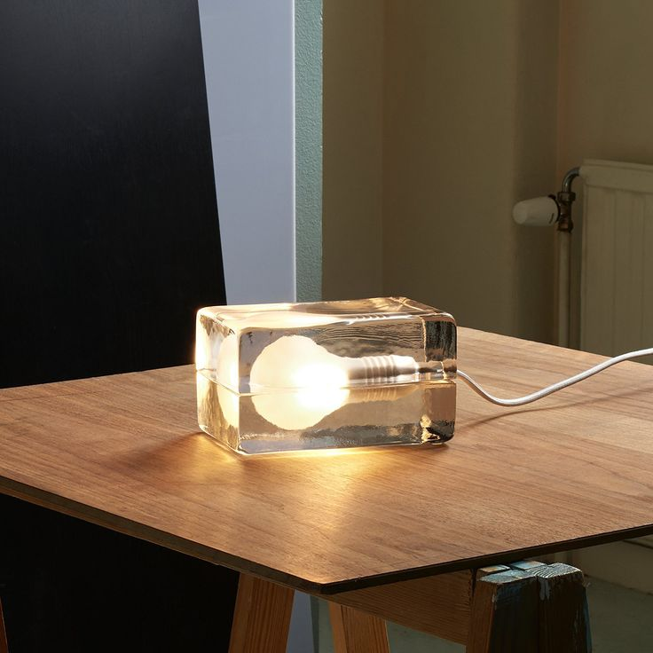 Block Lamp By Design House Stockholm A Sensation Of Ice And Light Heat And Chill Block Lamp By Design House Stockhol Wall Lamp Design Wall Lamps Bedroom Lamp