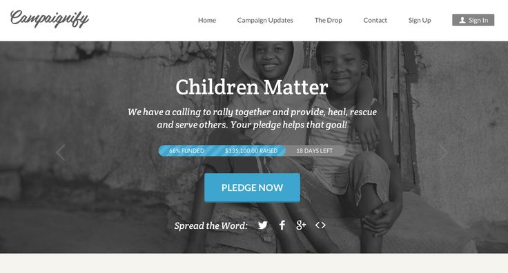 campaignify donation and progress bar