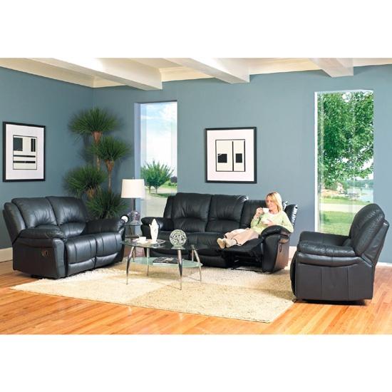 Black And Blue Furniture Home Sofa Set