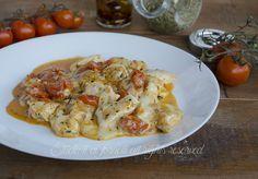 Pollo con pomodorini e scamorza alla pizzaiola in padella ricetta secondo gustoso veloce