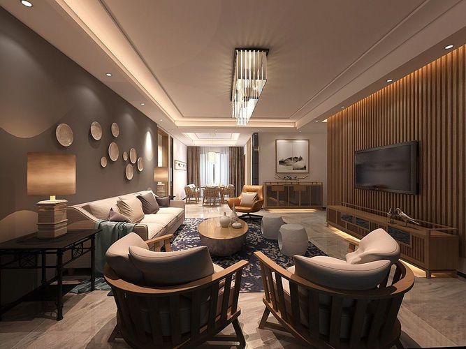 Contemporary Living Room Design Full Model 3d Model Available