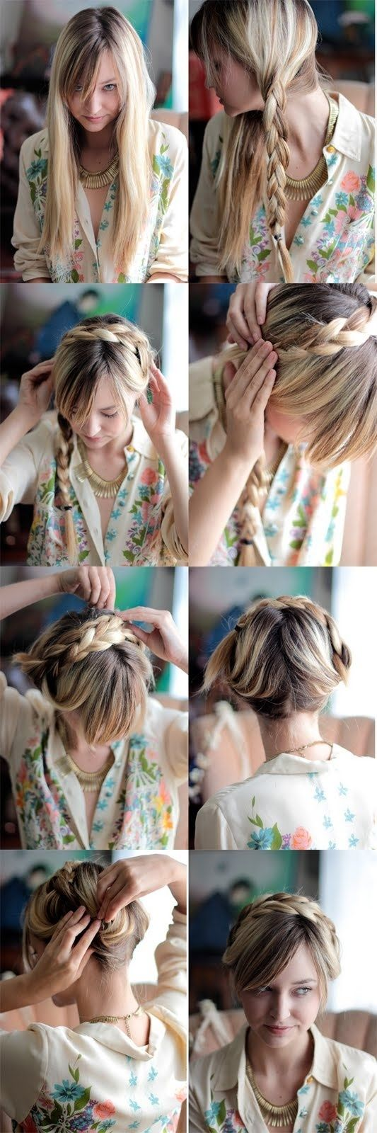 Best Hairstyles Images On Pinterest Braid Hair Styles - Diy hairstyle knotted milkmaid braid