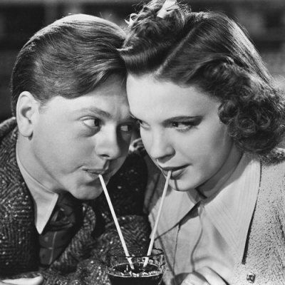 Judy Garland and Mickey Rooney. I wonder if they ever were actually together... In every picture they look like they understand each other's pain but that might be MGMs doing
