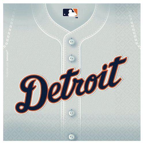 Detriot Tigers Baseball - Beverage Napkins Party Accessory Amscan. $10.26
