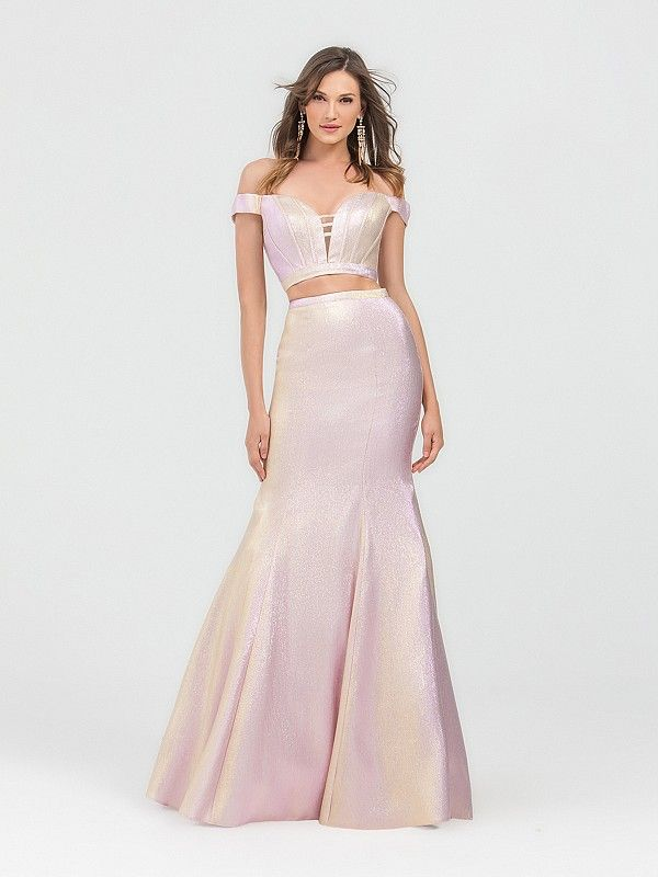 137f0884 Val Stefani 3491RB has all the mermaid vibes that are perfect for an under  the sea prom theme. The shimmering mermaid skirt with the off the shoulder  top is ...