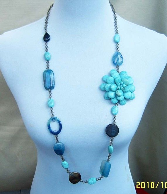 Bead NecklaceBeaded Jewelryturquoise necklace by audreyjewelry, $18.00
