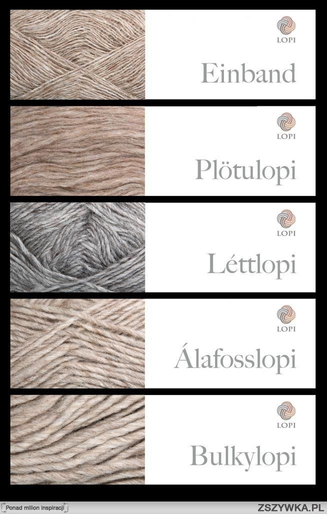 All types of Lopi wool