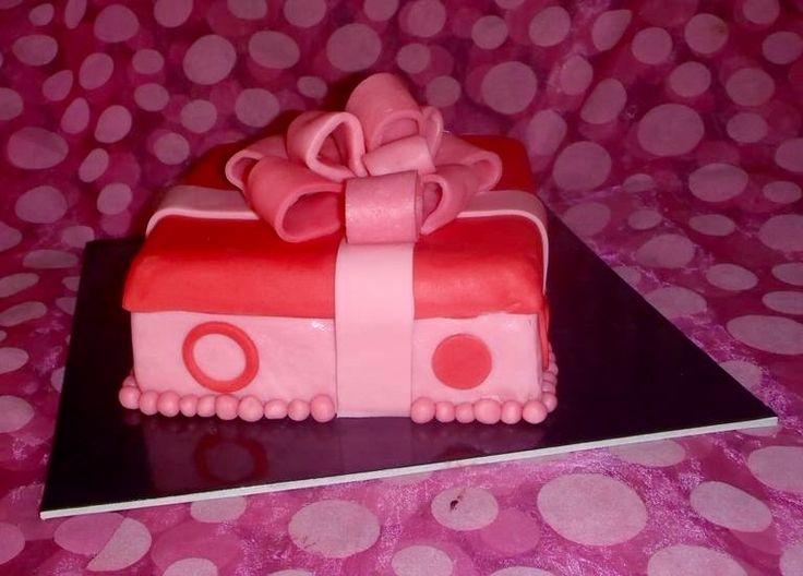 Handmade birthday cake gift box