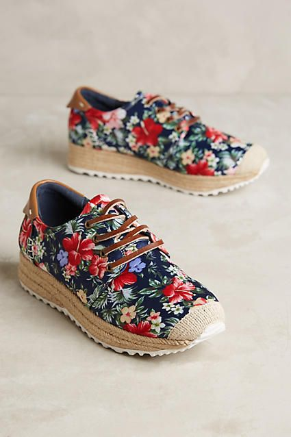 floral sneakers - from anthropologie