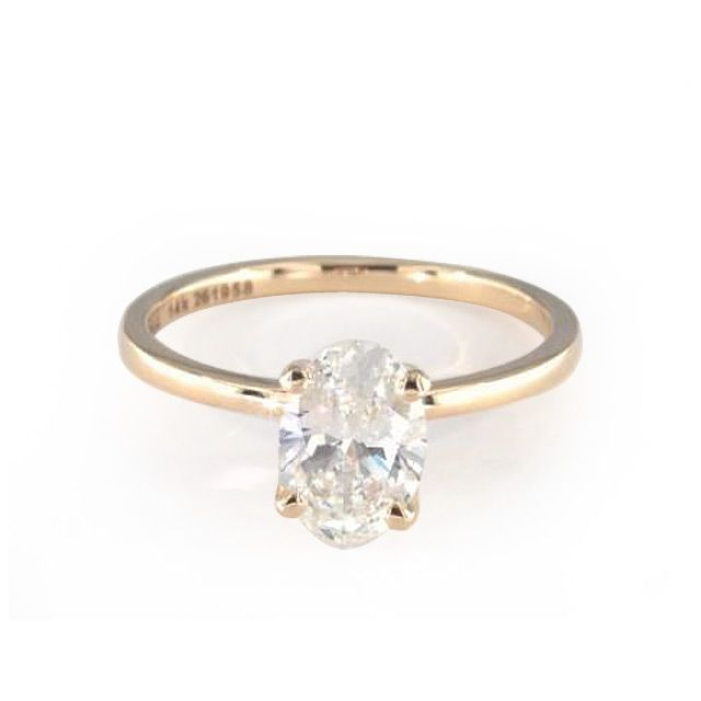 James Allen Oval Cut Diamond with 14k Yellow Gold Band