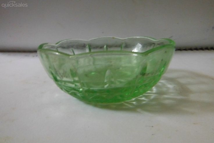 Depression years Green Glass Sweet's bowl by jones101 - $8.00