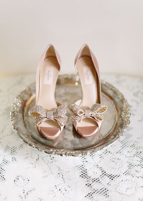 Valentino pink bridal shoes. You you imagine the way they'd look surrounded by white tulle!?