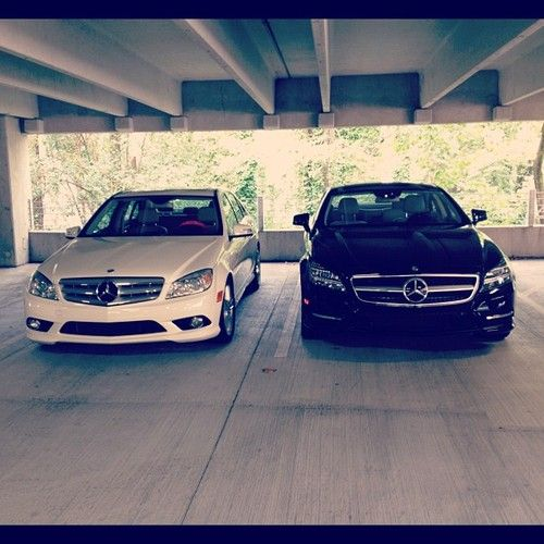 hers and his cars ... love but they're supposed to be audis!!! ❤
