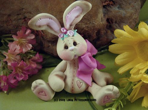 polymer clay projects | ... hop in your Spring with a Free Bunny Polymer Clay Project – download