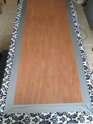 Sew Many Ways...: Tool Time Tuesday...Sewing Table - cover table top with vinyl (Joanne's or Hancock). Maybe not so much pattern though.