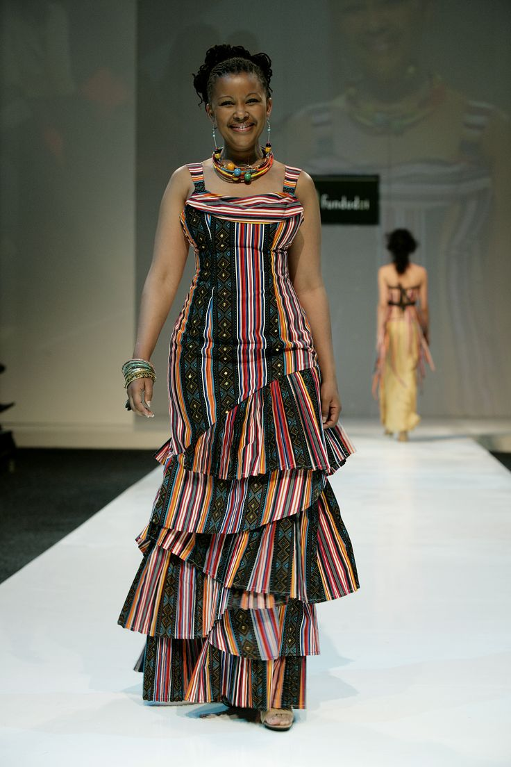 The showstopper from our very first collection in 2005, this dress was made with reams of traditional Venda material