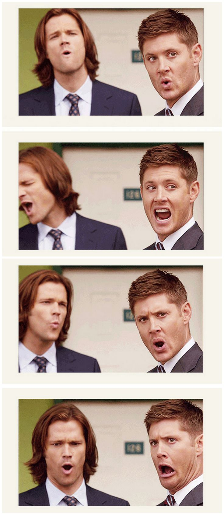 [gifset] One more reason to love #Jensen and #Jared <3 Season 8 Gag reels