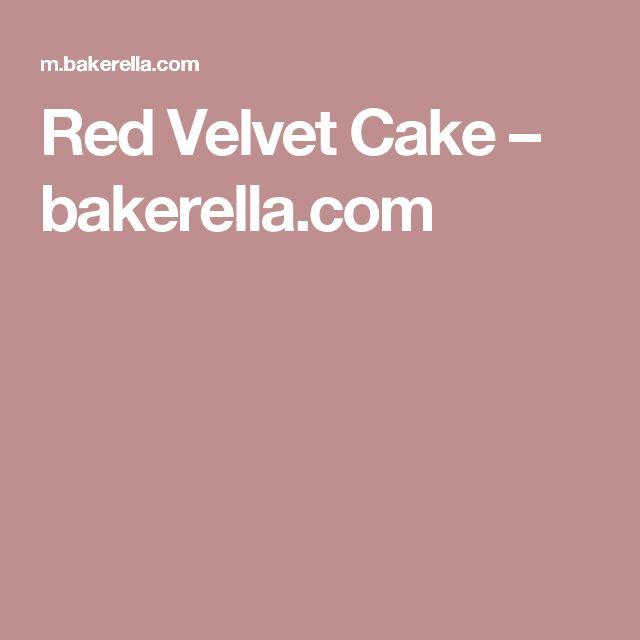 Red Velvet Cake – bakerella.com
