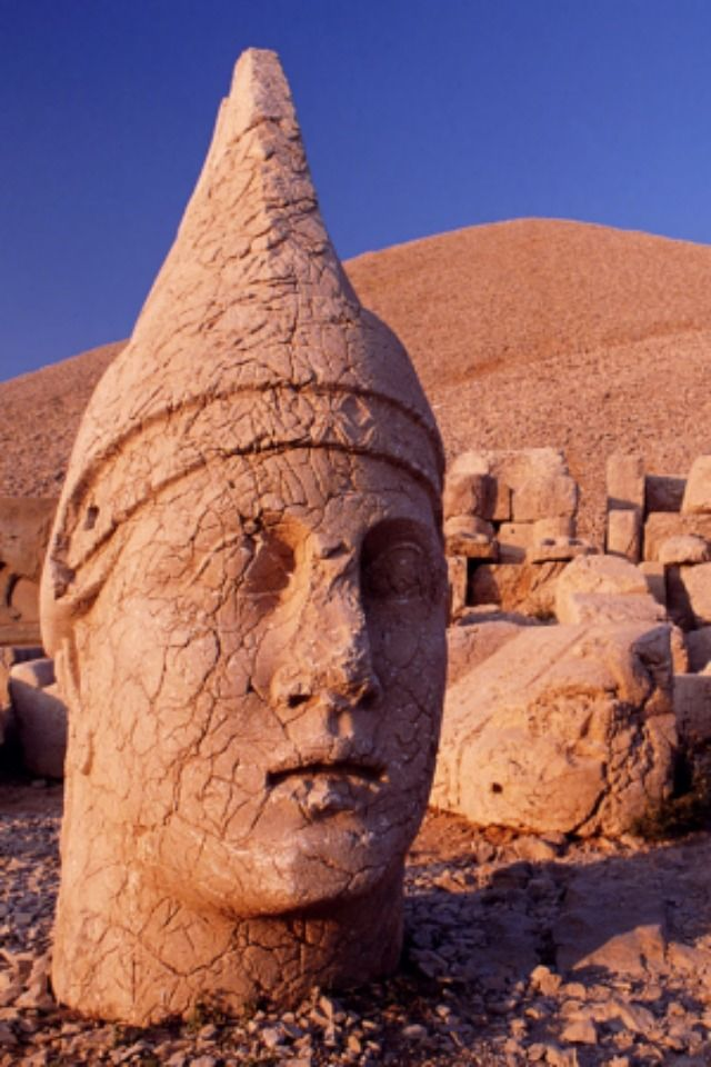 World TURKEY ancient sculpture.Mount Nemrut / Adiyaman.