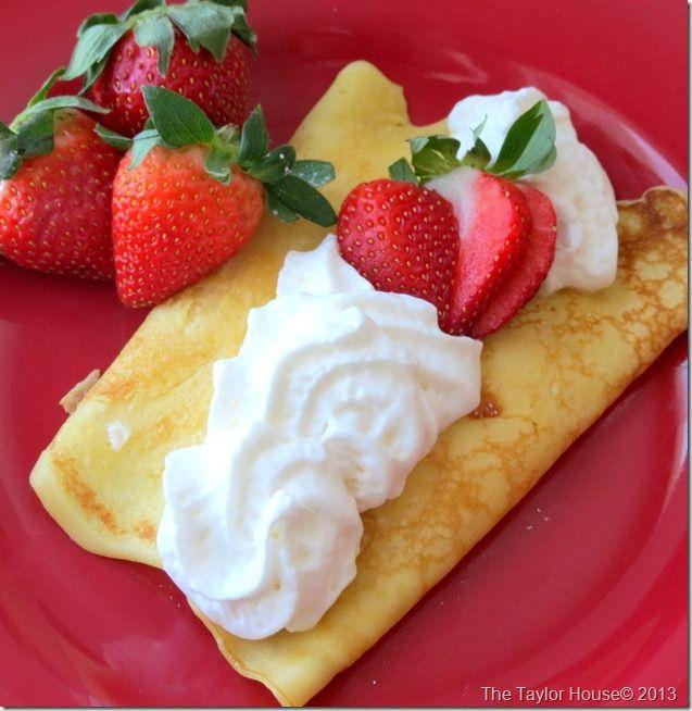 Strawberry Shortcake Crepes Recipe