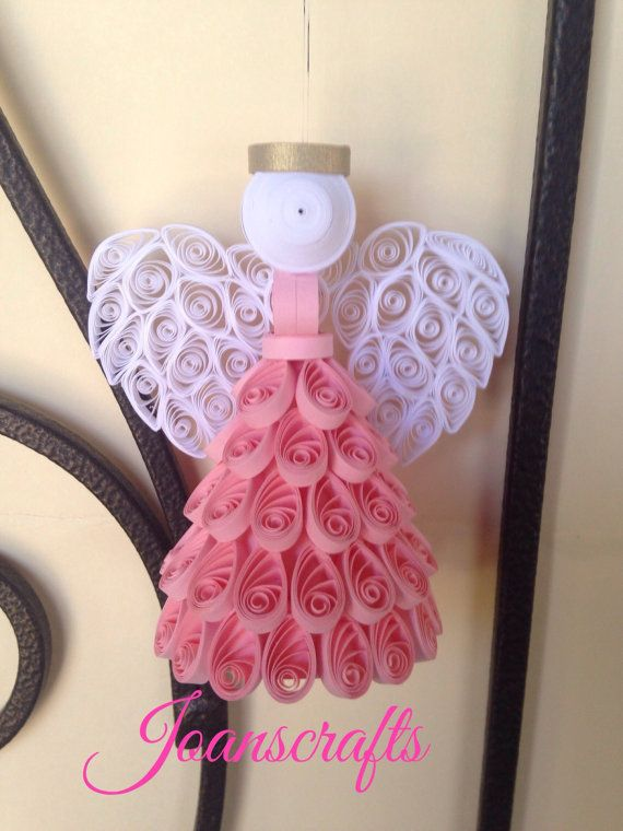 Quilling, Angel Ornament, choose your color                                                                                                                                                                                 More