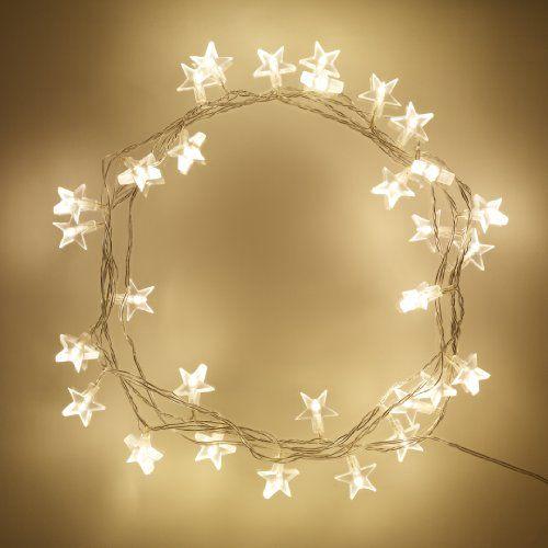Guirlande Lumineuse Intérieure, 30 Étoiles à LED Blanches Chaudes, Câble Transparent, 3m Lights4fun http://www.amazon.fr/dp/B005S0B7A4/ref=cm_sw_r_pi_dp_lkVnub0JMAHCP