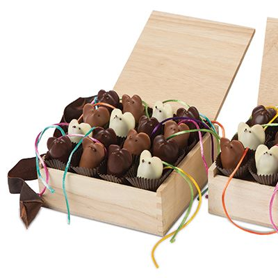 Burdick's Gourmet Handmade Chocolates: L.A. Burdick's Signature Chocolate Mice in Dark, Milk and White Chocolate -