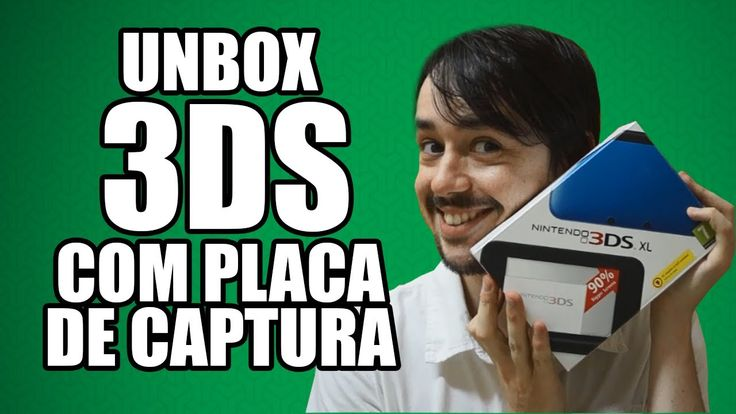 Unbox 3DS XL com placa de captura (Katsukity - Nisetro capture pt-br)