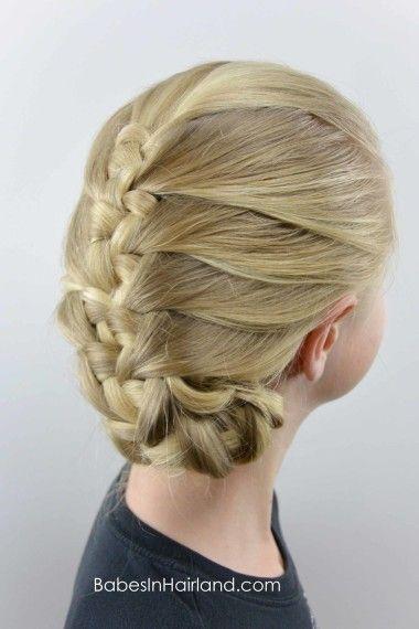 French Knotted Fishbone Braid from BabesInHairland.com #braid #fishbone #fishtail #knots #hairstyle