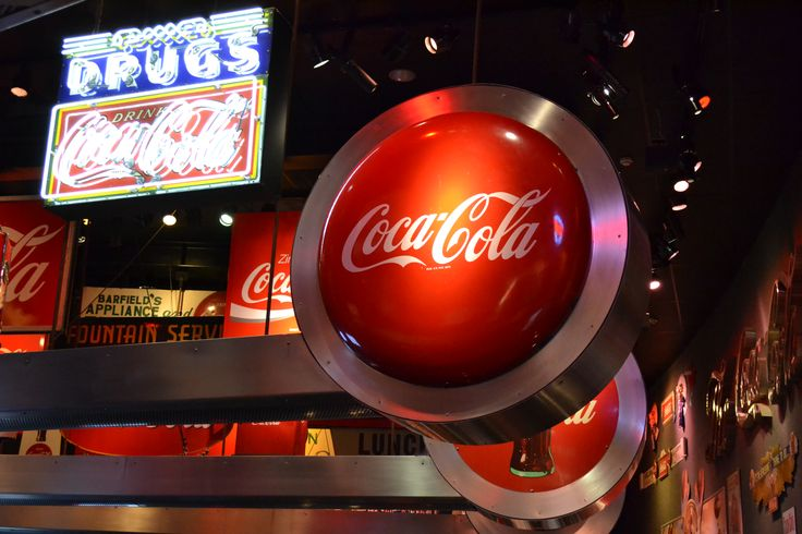 Word of Coca-cola. Atlanta