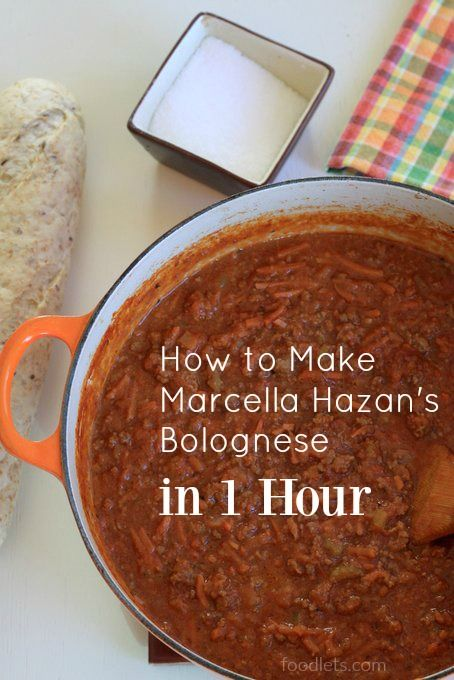 Have you ever made Marcella Hazan's bolognese sauce? It's amazing. But it takes almost 4 hours. If you have one, two, four or nine small kids at your house like I do, this just won&#821…