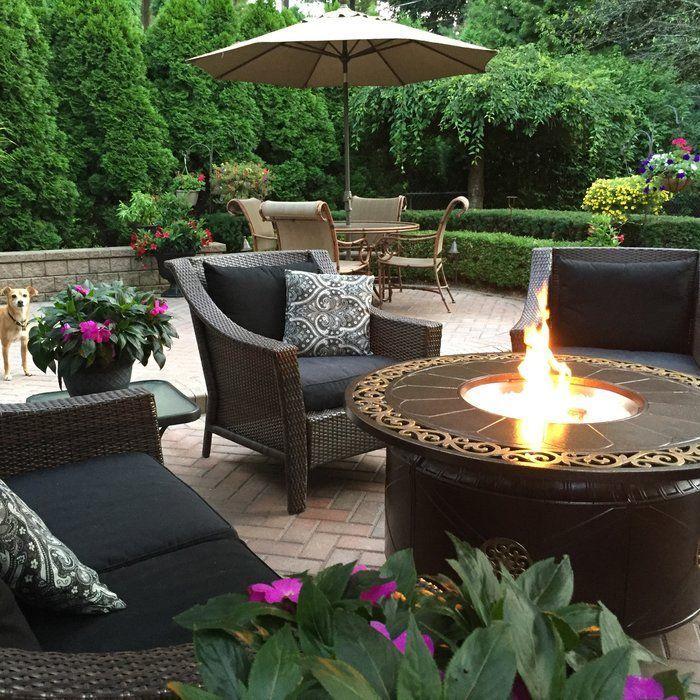 Az Patio Heaters Aluminum Propane Fire Pit Table Reviews Wayfair Backyard Patio Backyard Garden Design Outdoor Rooms