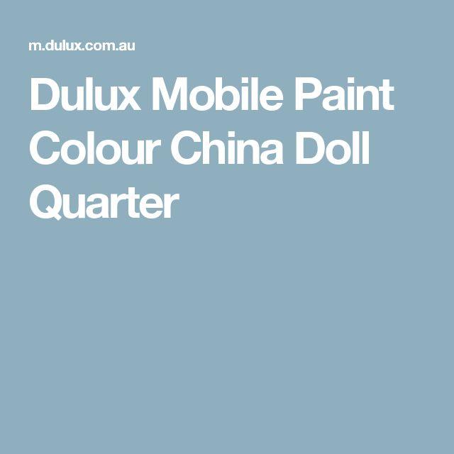 Dulux Mobile Paint Colour China Doll Quarter