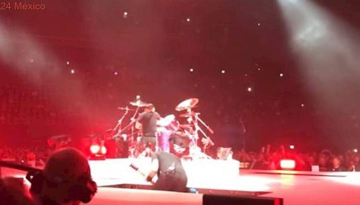 James Hetfield de Metallica se cae en concierto