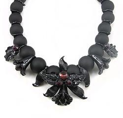 Beeds Chain Flower Choker Necklace