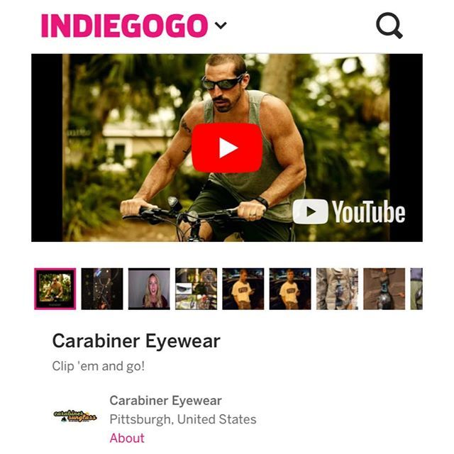 Back us by giving $1 or more! And at $30 & up, you get a pair of Carabiner Sunglasses. Read our story and check out our photos, videos, #infographic, and perks today: https://www.indiegogo.com/projects/carabiner-eyewear--4#/ ‼️ LINK IN BIO ‼️ We are the only #sunglasses with a #patented built-in #carabiner. Great  for #fishing, #hiking, #biking, #camping, #hunting, #golfing, #surfing, #boating, #skiing, #snowboarding, #grappling, #climbing, #mountaineering, #birding, #photography, and more…