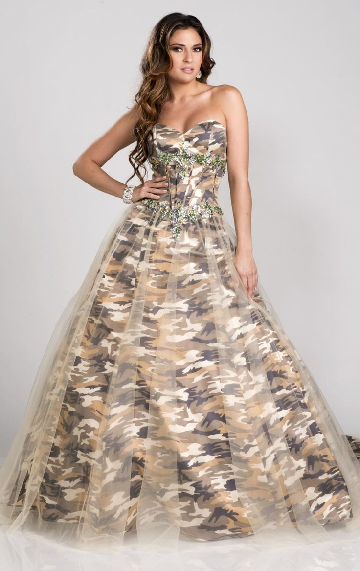 Cheap gowns graduation, Buy Quality dress dollar directly from China dress arabic Suppliers: 	strapless  millitary ball gown camo long prom dresses  2015 new style real photo custom make size 0 or plus s