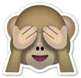 See No Evil Monkey | EmojiStickers.com  You also can print it!