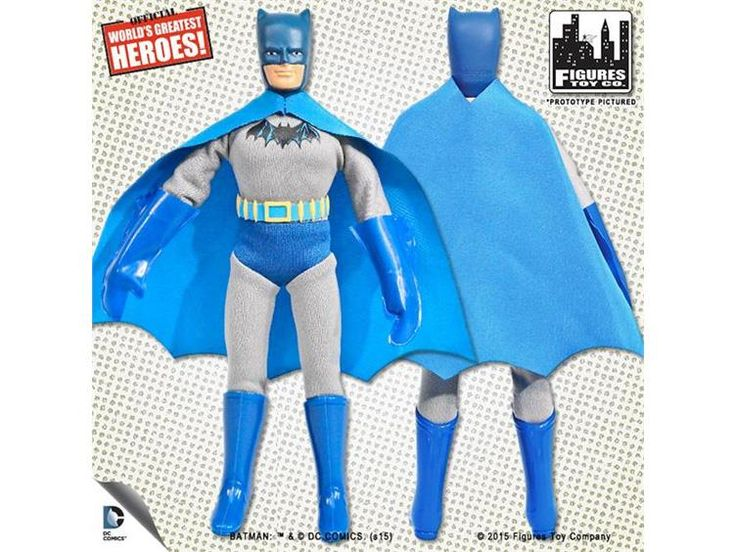 "#transformer dc world's greatest heroes first appearance series 1 batman 8"" retro figure"