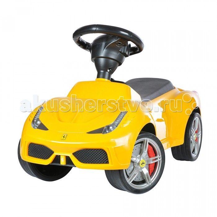Каталка Rastar 16 Ferrari 458 Speciale A  Каталка Rastar 16 Ferrari 458 Speciale A создана для маленького гонщика. Машина выглядит совсем как настоящий автомобиль благодаря тому, что выполнена по образу знаменитого Ferrari.  Каталка выполнена из прочного пластика с использованием металлических деталей. Мягкое сидение и гладкие борта позволяют малышу с комфортом устроиться на машинке.  Обратите внимание на колеса с прорезиненным ободом, что делает автомобиль-каталку прекрасной игрушкой не…