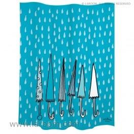 """Laroom - Cortina baño """"paraguas"""" azul polyester - Laroom diseña los productos para Baño más bonitos del mundo - www.laroom.com"""