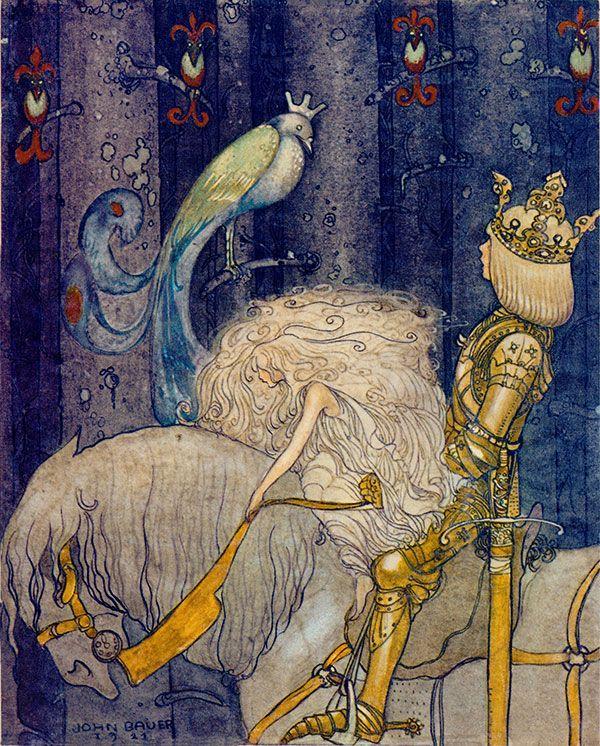 Till Sagolandet (To Fairyland): John Bauer cover illustration