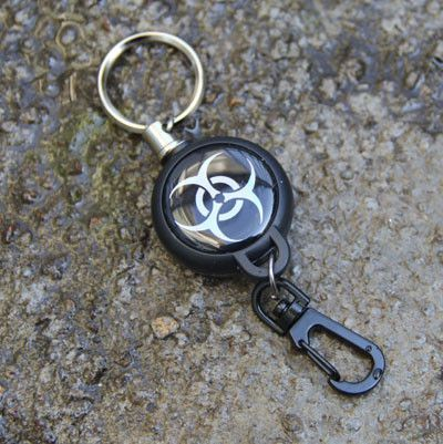 EDC Outdoor Steel Rope Burglar Keychain Stalker Soft Shell Tactical Retractable Key Chain, Key Return key ring Camping